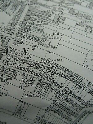 ST ALBANS (SW)  Map from 1897, old ordnance survey map series FREE POSTAGE