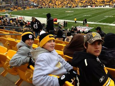 3 lower level sideline tickets Pittsburgh Steelers vs Los Angeles Rams 11/10/19