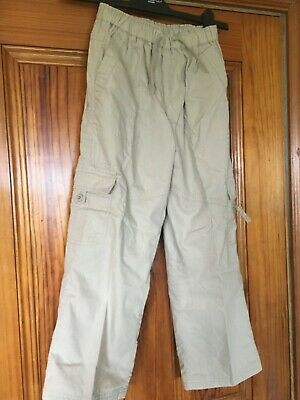 Dunnes Cargo Stone Trousers Age 8 Waist 23 Inches / 58cm Brand New with Tags