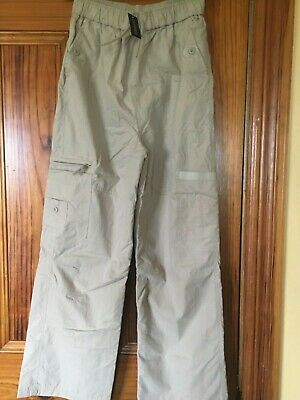 Dunnes Fully Lined Stone Cargo Trousers 28 inch /71 cm Waist Brand New with Tags