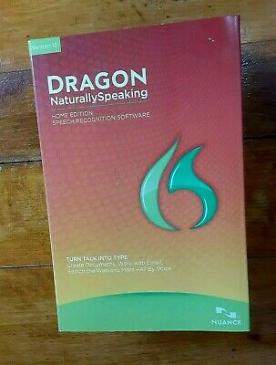 Dragon Naturally Speaking Version 12 Home Edition Speech Recognition Software