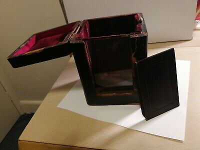 Travelling Case for a Carriage Clock probably Victorian