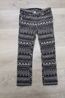 BNWT Sergent Major Girl black and white  corduroy print fox trousers 2-3 years