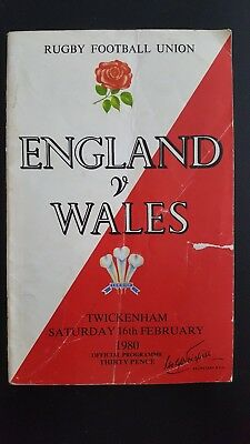 2 x England v Wales Rugby Union Programmes 04/02/78 & 16/02/80
