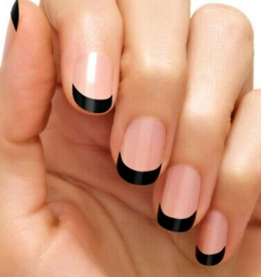 Color street nail strips. French Manicure. Gotham Night