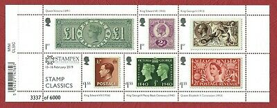 Gb 2019 - Stamp Classics Minisheet With Spring Stampex Overprint Ac215