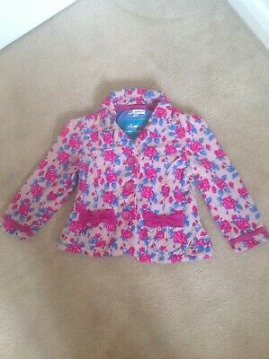 Gorgeous Girls Marks & Spencers M&S Autograph Pink & Blue Floral Jacket Age 2-3