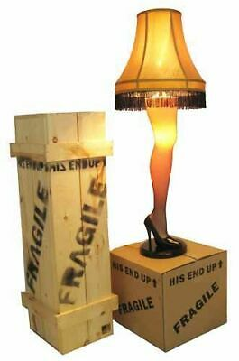 """A Christmas Story 45"""" Full Size Leg Lamp w/ Shade Movie Quality Wood Crate 1 Box"""