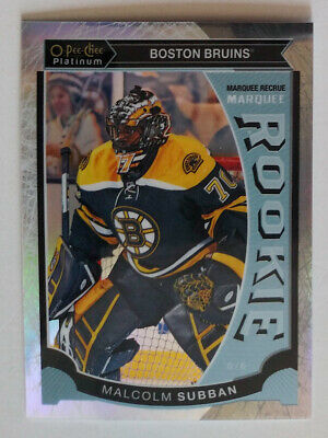 MALCOLM SUBBAN 2015-16 O-Pee-Chee Platinum White Ice Marquee Rookie /199 Knights