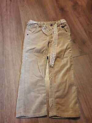 girls beige suede trousers age 2-3 years from autograph at m&s