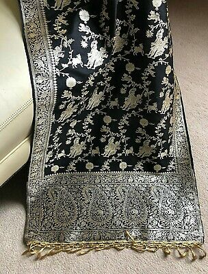 Antique Bolt of Chinese Embroidered SIlk Fabric Panel