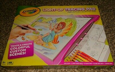 New Crayola Light-Up Tracing Pad Pink LED.  Several available! Free US Shipping!