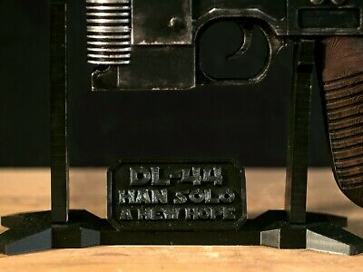 Star Wars Han Solo Blaster DL-44  Display Stand 3D Printed