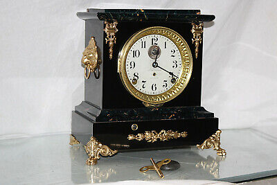 SETH THOMAS Mantel Antique Clock c/1909-  RESTORED --ALARM-