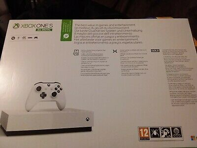 New Xbox One S 1TB All-Digital Edition WHITE BRAND NEW & SEALED 3 DIGTAL GAMES