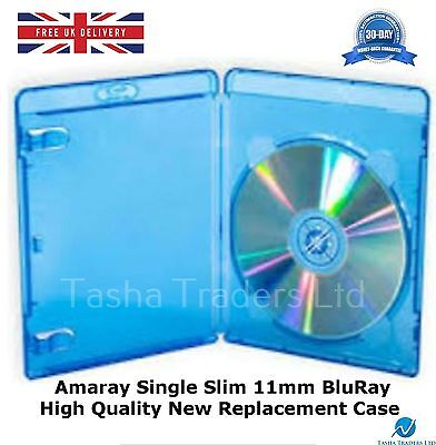 200 Single Slim Blu ray 11mm Amaray High Quality Spine New Replacement Cover