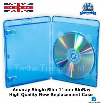 10 Single Slim Blu ray 11mm Amaray High Quality Spine New Replacement Cover