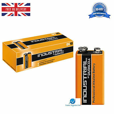 5 Duracell Industrial 9V PP3 MN1604 Block Professional Performance Batteries