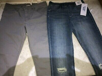 H&M Blue Super Stretch Jeggings And Grey Skinny Leg Jeans Bnwt Age 11/12