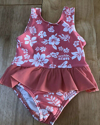 GIRLS PINK SWIMMING COSTUME - Age 6-9 Months