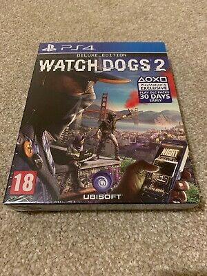 Watch Dogs 2 Deluxe Edition Sony Playstation PS4 Sealed