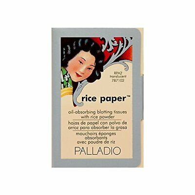 Palladio Rice Paper Tissues, Translucent, Face Blotting Sheets with Natural Rice