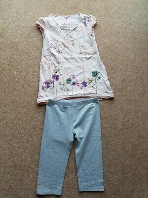 Next Butterfly Outfit Age 9 Capri Leggings & Tunic Top Excellent used Condition