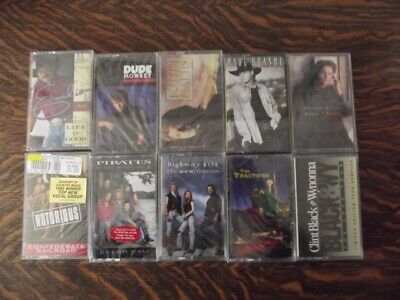 10 New / Sealed Country Music Cassette Tapes