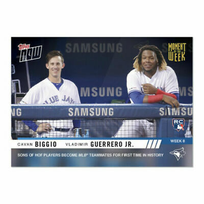 2019 Topps Now Biggio & Guerrero Jr Gold Moment Of The Week Winner Rc Mow-8 Ssp