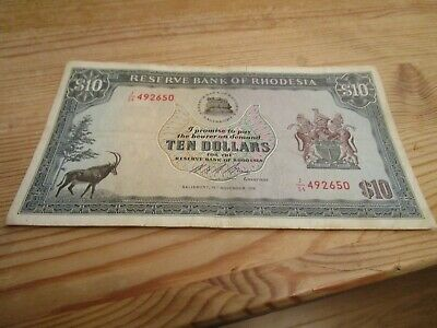$10 Banknote Reserve Bank Of Rhodesia - Rare African Banknote Africa  492650