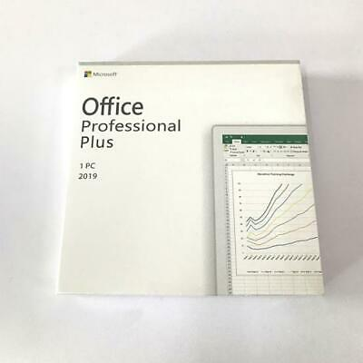 Microsoft Office 2019 Professional Plus 1PC Full Retail Version Includes DVD