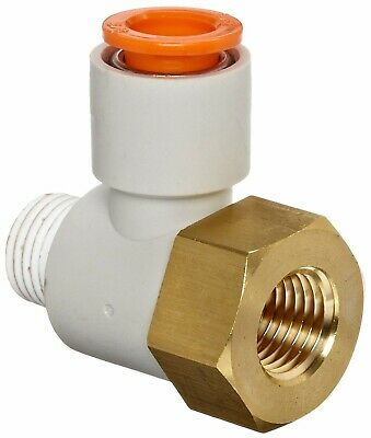 SMC KQ2VF07-35AS PBT Brass Push-to-Connect Tube Fitting w/Sealant,Universal