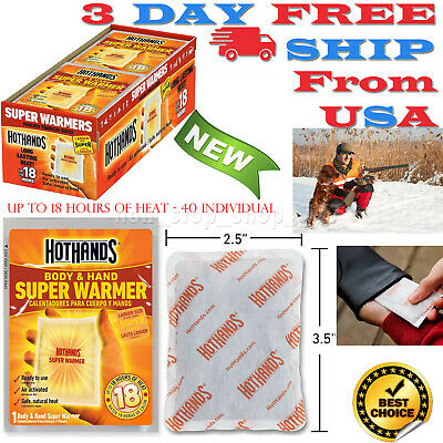 Hand and Body Warmer Super HotHands Warmers 40 Hot 18 Hours Heat Disposable nEW