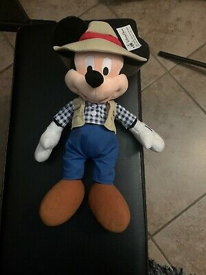 Mickey Mouse Plush Doll Disney Parks NEW WITH TAGS- Jungle Outfit Mickey 16""