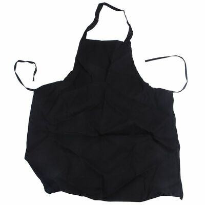 5X(12 Pack Bib Apron - Unisex Black Apron Bulk with 2 Roomy Pockets Machine Q9D8