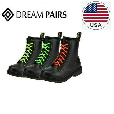 DREAM PAIRS Girls Kids Ladies Lace Up Casual Military Ankle Biker Boots Shoes