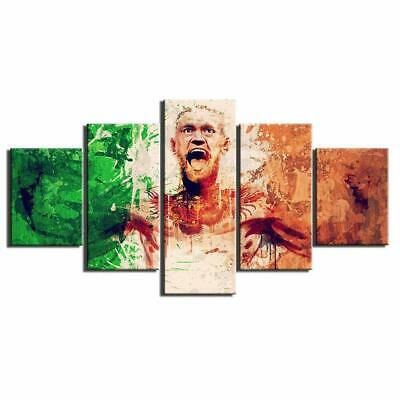 Print Framed Canvas Conor Mcgregor Fighter 5 Pieces Wall Art Decor Ready to Hang