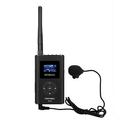 Portable FM Transmitter Microphone Rechargeable for Tour Guide/Meeting System DE