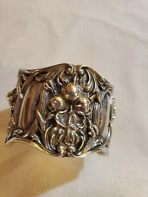 Gorgeous Antique Art Nouveau Sterling Silver Napkin Ring, Webster?
