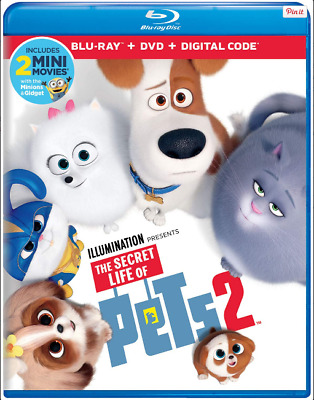 *Brand New* Secret Life of Pets 2 (Blu-ray+DVD+Digital 2019) With Slipcover