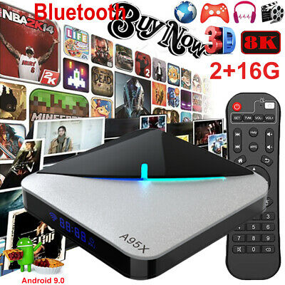 A95X F3 AIR 8K Android 9.0 Quad Core 2+16G TV BOX BT 2.4G WIFI S905×3 3D Movies
