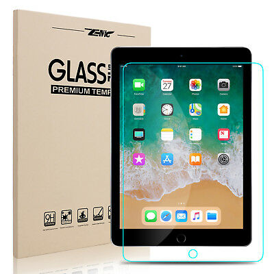 """For iPad 6th Generation 9.7"""" 2018 2017 HD Clear Tempered Glass Screen Protector"""