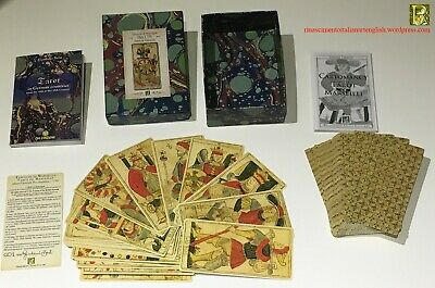TAROT MARSEILLE HES rare vintage 1750 ARTBOX - 78 cards Ltd Ed 900 copies