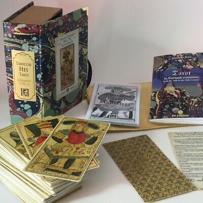 TAROT MARSEILLE HES rare vintage 1750 DELUXE BOX 78 cards Ltd Ed 900 copies