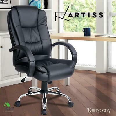 RTS Artiss Office Chair Computer Chairs Executive Leather Seating Home Black