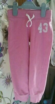 Girls Pink 4 Years Soft Tracksuit Joggers Comfy From Next