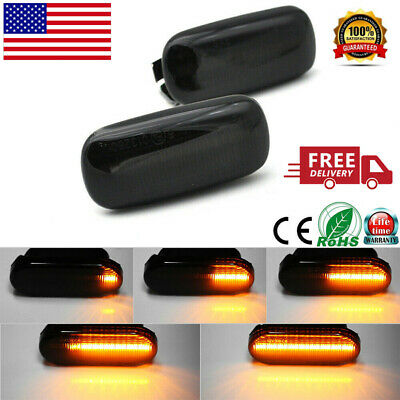 Dynamic Smoked LED Marker Signal Side Lights For Audi A4 S4 B6 B7 A6 A8 C5 TT !!