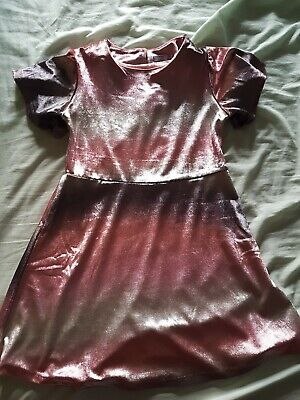Next Girls Velour Pink Party Dress Age 8 christmas