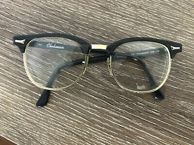 Vintage Eyeglasses Art Craft Rochester Brow Line Made In USA Clubman 145