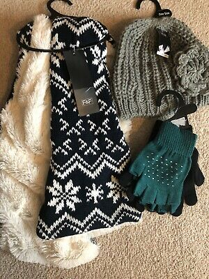 Womans Hat Scarf And Gloves Brand New